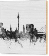 Dusseldorf Germany Skyline Wood Print
