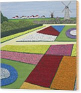 Dutch Gardens Wood Print