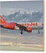 Easyjet Tartan Livery Airbus A319-111 Wood Print