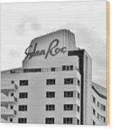 Eden Roc Hotel Wood Print