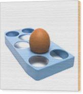egg Wood Print