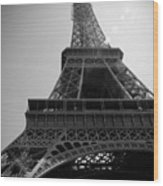 Eiffel Tower Under The Spotlight Wood Print