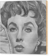Elizabeth Taylor Wood Print