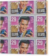 Elvis Commemorative Stamp January 8th 1993 Painted  Wood Print