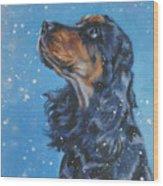 English Cocker Spaniel Wood Print by Lee Ann Shepard