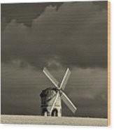English Windmill Wood Print