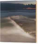 Genova Wavescape - Onde Sul Molo Con Faro Wood Print