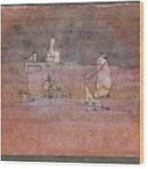 Episode Before An Arab Town Wood Print