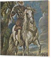 Equestrian Portrait Of The Duke Of Lerma Wood Print