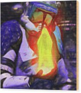 Execute Order 66 Blue Team Commander - Texturized Style Wood Print