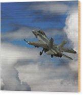F-18 Superhornet Wood Print