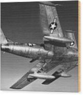 F-86 Jet Fighter Plane Wood Print