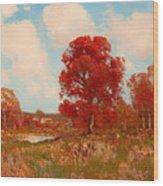 Fall Landscape Wood Print
