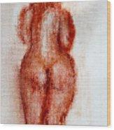 Fat Nude Woman  Wood Print