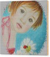 Felisa Little Angel Of Happiness And Luck Wood Print