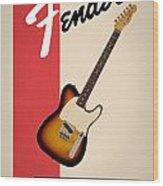 Fender Esquire 59 Wood Print