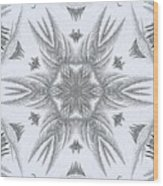Fern Frost Mandala Wood Print