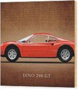 Ferrari Dino 246 Gt Wood Print