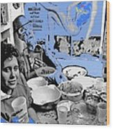 Film Homage Esther Williams Skirts Ahoy 1952 St. Patrick's Day Party Tucson Arizona 1985-2012 Wood Print