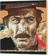 Film Homage Lee Van Cleef Spaghetti Westerns Publicity Photo Collage 1966-2008 Wood Print