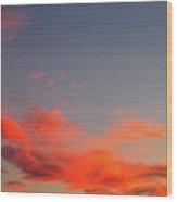 Film Noir Homage Slightly Scarlett John Alton Rko 1956 Reddish Clouds Dusk Casa Grande 2005 Wood Print