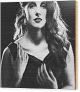 Film Noir Woman Wood Print