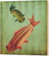 2 Fish Wood Print