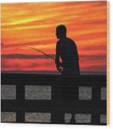 Fishing Pier Mount Sinai New York  Wood Print