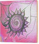 Flora Blushing Wood Print