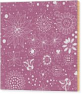 Floral Doodles Wood Print