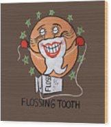 Flossing Tooth Wood Print