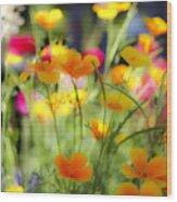 Flowering Garden Wood Print