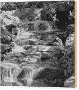 Flowing Water Wood Print