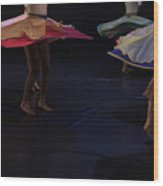 Folk Dancing  Wood Print