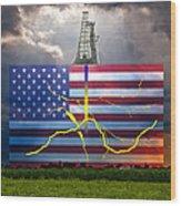 Fracking In The U.s Wood Print