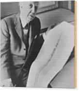 Frank Lloyd Wright 1867-1959, American Wood Print by Everett