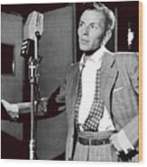Frank Sinatra William Gottlieb Photo Liederkranz Hall New York City 1947-2015 Wood Print