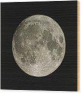 Full Moon Wood Print by Eckhard Slawik