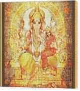 Ganesha Ganapati - Success Wood Print