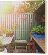 Garden Potting Table Wood Print