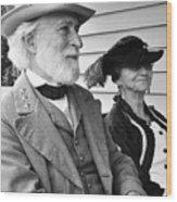 General Lee And Mary Custis Lee Wood Print