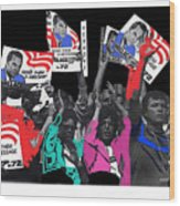 George Wallace For President Supporters Democratic Nat'l Convention Miami Beach Florida 1972-2013 Wood Print