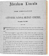 Gettysburg Address, 1863 Wood Print