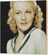 Ginger Rogers, Legend Wood Print
