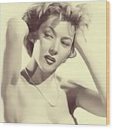 Gloria Grahame, Vintage Actress Wood Print