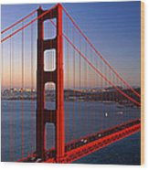 Golden Gate Bridge San Francisco Ca Wood Print