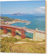 Golden Gate Bridge Vista Point Wood Print