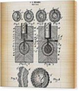 Golf Ball Patent  1902 Wood Print