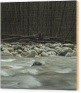 Granite And Water, Lynn Creek Wood Print