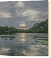 Granite Basin Lake Sunset Wood Print